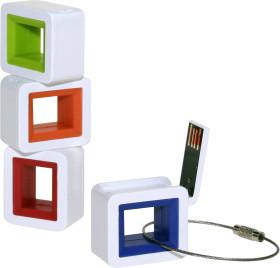 Relatiegeschenk USB Stick met sleutelhanger.