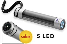 Relatiegeschenk Solar zaklamp met 5 ledlampjes