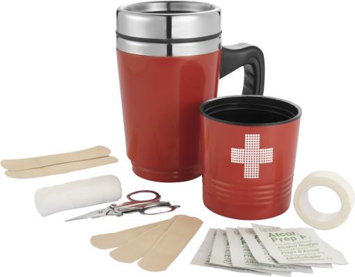Relatiegeschenk EHBO set Koffiemok bedrukken