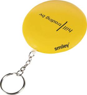 Relatiegeschenk Smiley drijvende sleutelhanger.