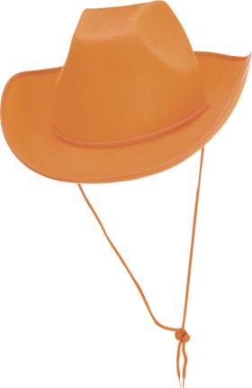 Relatiegeschenk Cowboyhoed oranje.