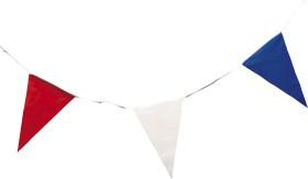 Relatiegeschenk Vlaggenlijn 10 meter rood-wit-blauw.