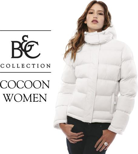 Relatiegeschenk B&C winterjas Cocoon / Women bedrukken