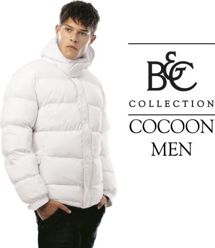 Relatiegeschenk B&C winterjas Cocoon / Men bedrukken