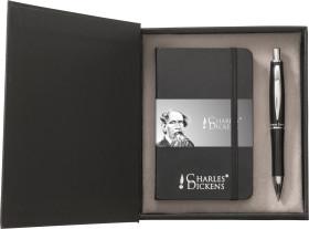 Relatiegeschenk Charles Dickens schrijfset Notebook A6