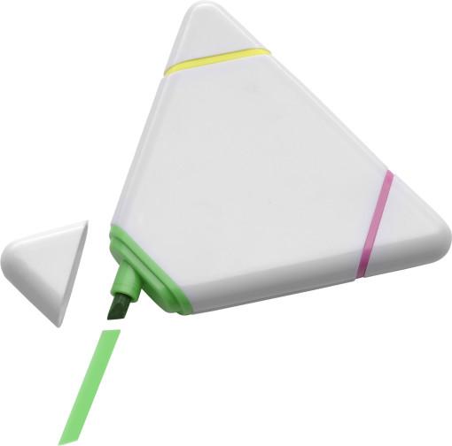 Relatiegeschenk Tekstmarker Driehoek bedrukken