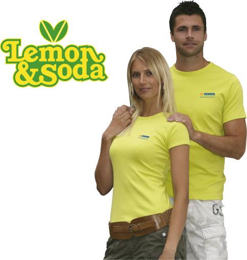 Relatiegeschenk Lemon & Soda 'Honululu' fit shirt for her bedrukken