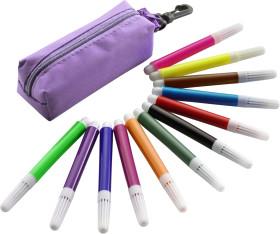 Relatiegeschenk 12 Viltstiften in nylon etui