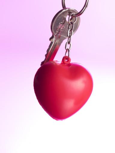Relatiegeschenk Sleutelhanger Love Heart bedrukken