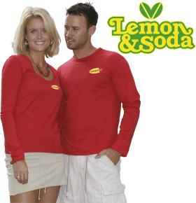 Relatiegeschenk Lemon & Soda iTee t-shirt L/S for him