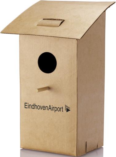 Relatiegeschenk Opvouwbaar vogelhuisje bedrukken