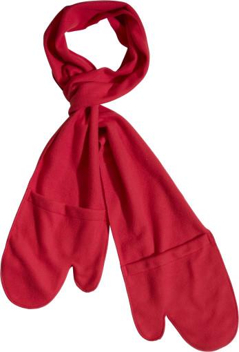Relatiegeschenk 2-in-1 sjaal met handschoenen bedrukken