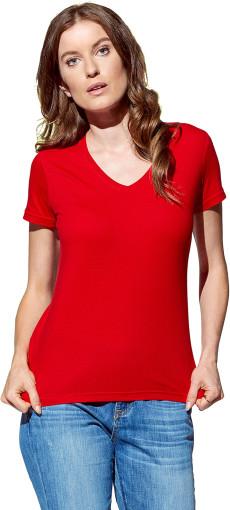 Relatiegeschenk Stedman Classic V-neck T-shirt Dames bedrukken