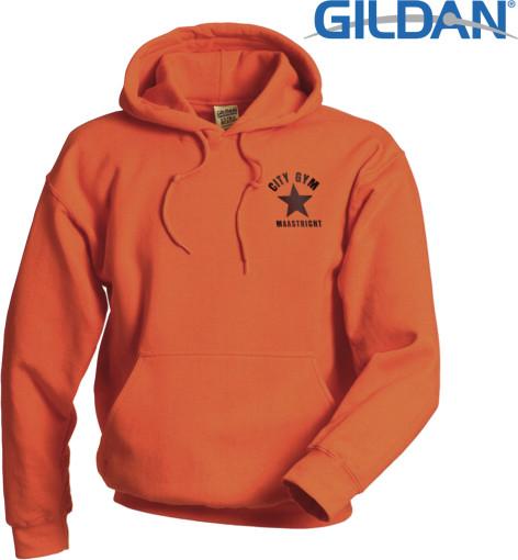 Relatiegeschenk Gildan Heavyweight Hooded Sweatshirt bedrukken