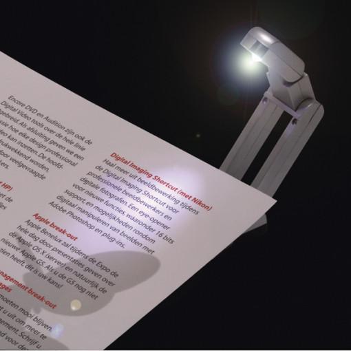 Relatiegeschenk Boekleeslampje bedrukken