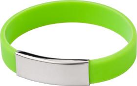 Relatiegeschenk Siliconen armband Metal