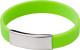 Relatiegeschenk Siliconen armband Metal bedrukken