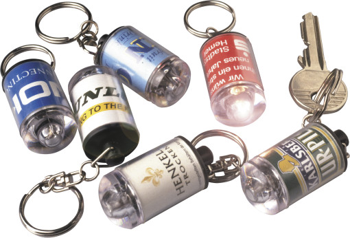 Relatiegeschenk Concertlampje met sleutelhanger bedrukken