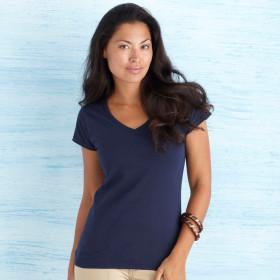 Relatiegeschenk Gildan Soft Style V-neck T-shirt Dames