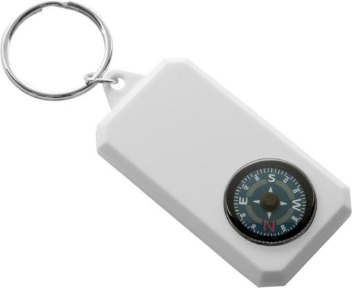 Relatiegeschenk Sleutelhanger met kompas bedrukken