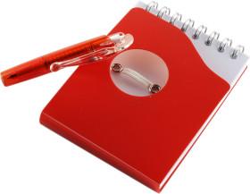 Relatiegeschenk Notitieboekje met hefboom-pen