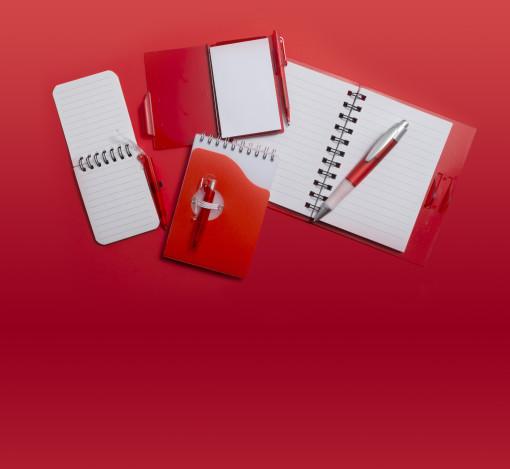 Relatiegeschenk Notitieboekje met hefboom-pen bedrukken