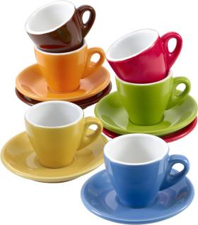 Relatiegeschenk 6-delige espressoset Colour