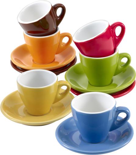 Relatiegeschenk 6-delige espressoset Colour bedrukken