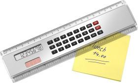 Relatiegeschenk Liniaal 20 cm met calculator