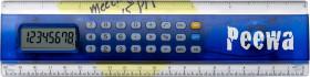 Relatiegeschenk Kunststof liniaal 20 cm met calculator