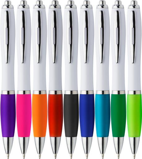 Relatiegeschenk Pen white Lac bedrukken