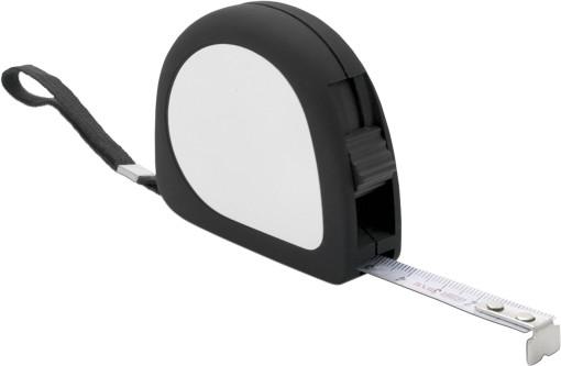 Relatiegeschenk Rolbandmaat rubber look 2 meter bedrukken