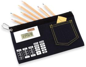 Relatiegeschenk Schooletui met calculator
