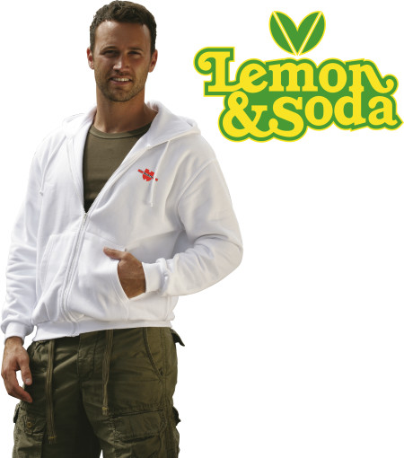 Relatiegeschenk Lemon & Soda Hooded Sweat Cardigan bedrukken