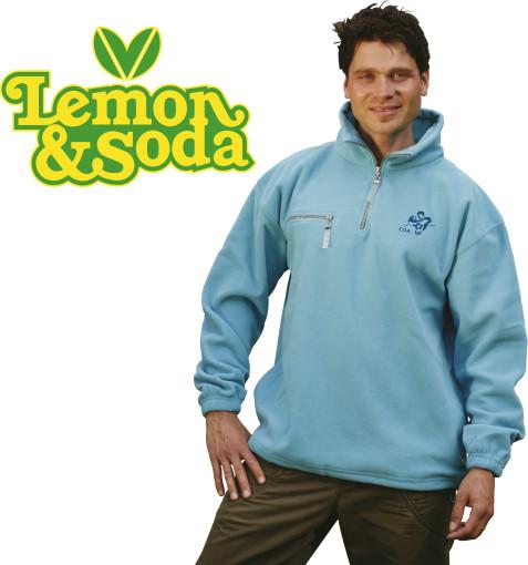 Relatiegeschenk Lemon & Soda polar fleece comfort sweater bedrukken