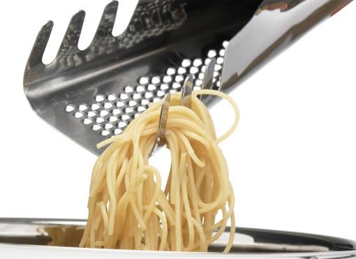 Relatiegeschenk Pasta-schep Italia met rasp bedrukken