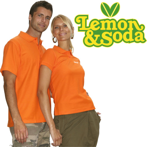 Relatiegeschenk Lemon & Soda Basic Polo for her bedrukken