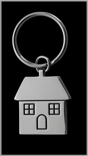 Relatiegeschenk Sleutelhanger Huis bedrukken
