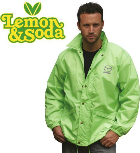 Relatiegeschenk Lemon & Soda coach jacket bedrukken