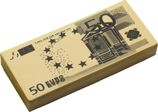 Relatiegeschenk Anti-stress 50 EURO biljet bedrukken