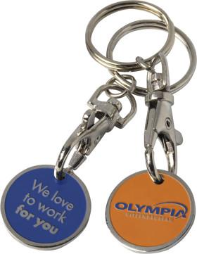 Winkelwagenmunt met sleutelhanger