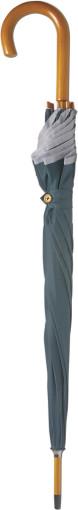 Relatiegeschenk Paraplu met zilverkleurige band bedrukken