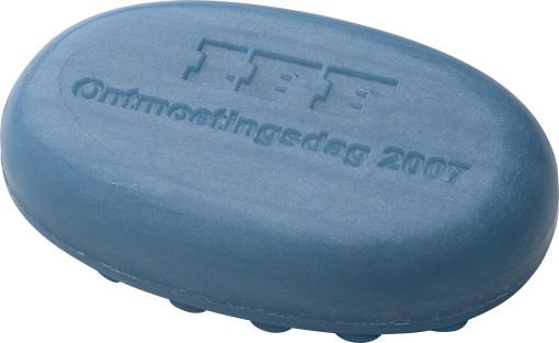 Relatiegeschenk Ovaal massage zeep bedrukken
