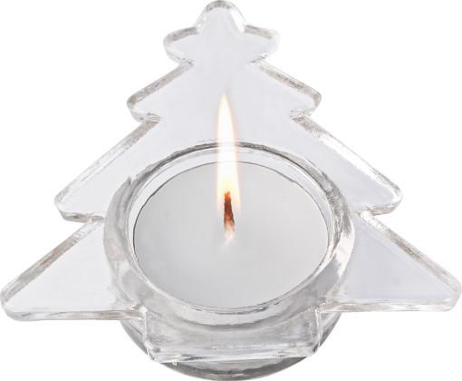 Relatiegeschenk Theelichthouder Kerstboom bedrukken