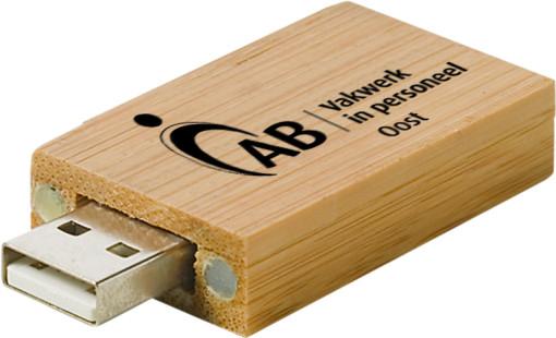 Relatiegeschenk USB stick Bamboe bedrukken