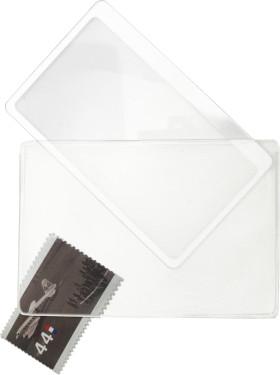 Relatiegeschenk Visitekaart/loep in vinyl hoes