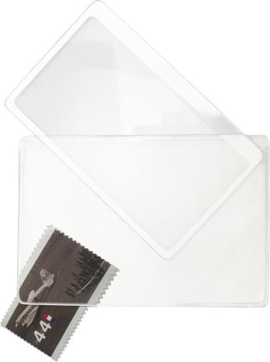 Relatiegeschenk Visitekaart/loep in vinyl hoes bedrukken