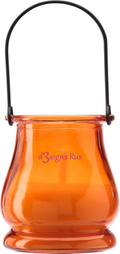 Relatiegeschenk Citronella kaars Glas bedrukken