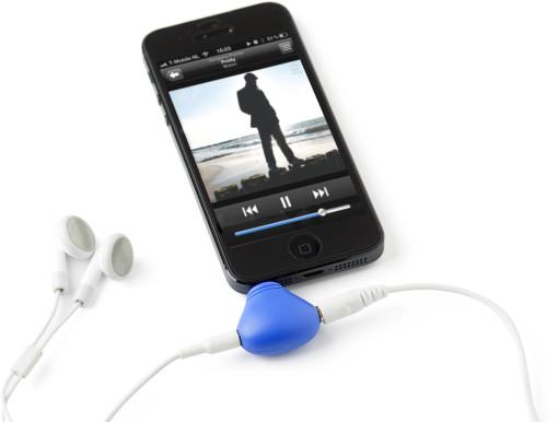 Relatiegeschenk Telefoonstandaard met audiosplitter bedrukken