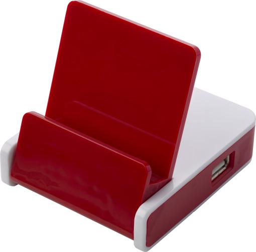 Relatiegeschenk USB hub met telefoonstandaard bedrukken
